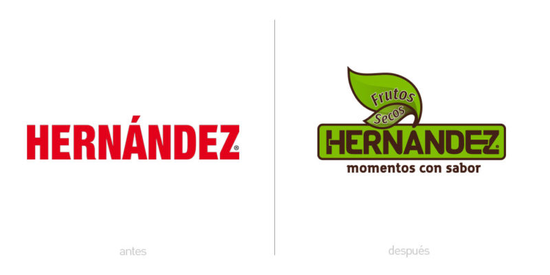 Evolución de marca Frutos Secos Hernández