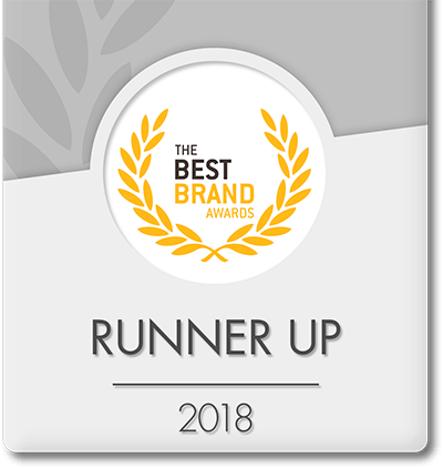 Runner up 2018 - The best brand awards